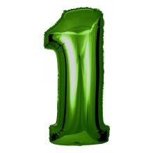 Folienballon Zahl 1 grün