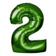 Folienballon Zahl 2 grün
