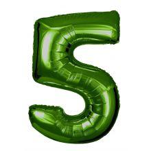 Folienballon Zahl 5 grün