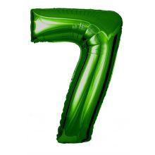 Folienballon Zahl 7 grün