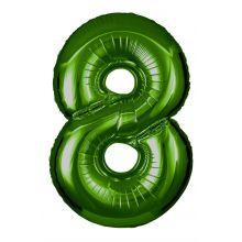 Folienballon Zahl 8 grün