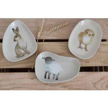 Osterschälchen Hase, Lamm und Küken