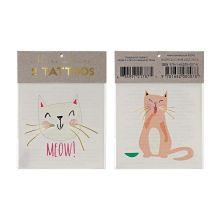 Meri Meri Tattoos Meow Katzen