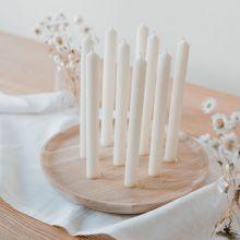 Eulenschnitt Kerzenbrett rund Eiche