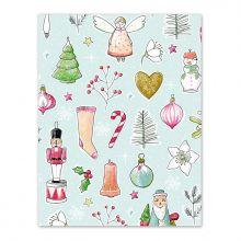Geschenkpapier Weihnachtsliebelei hellblau