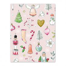 Krima-Isa Geschenkpapier Weihnachtsliebelei rosa