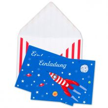Einladungskarten Weltraumparty