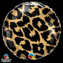 Folienballon Leoparden-Muster rund