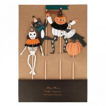 Meri Meri Vintage Halloween tanzende Figuren Cake Topper