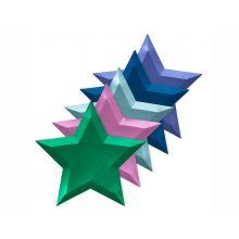 Meri Meri Pappteller Sterne mehrfarbig metallisch