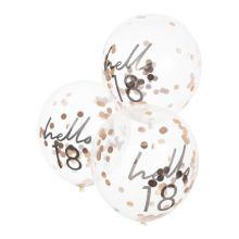 Ginger Ray Hello 18 Konfetti Ballons rosè
