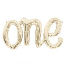 Folienballon Schriftzug One