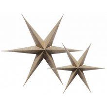 3D-Sterne glitzer-gold