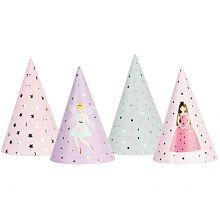 Partyhüte mix Prinzessin freigestellt