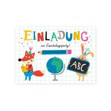 "Postkartenset ""Einladung zum Schulanfang"""