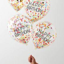 Ginger Ray Happy Birthday Konfetti Ballons bunt
