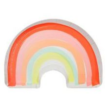 Meri Meri Partyteller Regenbogen