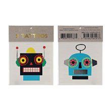 Meri Meri Roboter Tattoos in zwei verschiedenen Designs