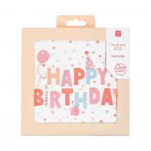 Serviette Happy Birthday Konfetti pastell
