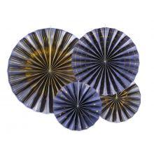 Rosetten Nachtblau/Gold