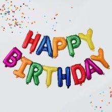 GInger Ray Folienballon Girlande Happy Birthday bunt