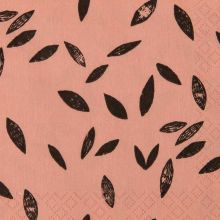 Rico Design Serviette braun mit Blättern