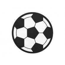 Serviette Fußball rund