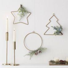Weihnachtsdeko-Set Stern, Tanne und Ring