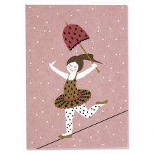 Postkarte Seiltänzerin