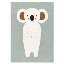 Postkarte Koala - weiss, eisblau