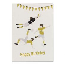 "Postkarte Fussball-Motiv ava&yves ""Happy Birthday"""