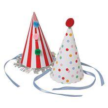 Große Party Hütte Streifen/Punkte