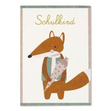 ava&yves Postkarte Schulkind Fuchs