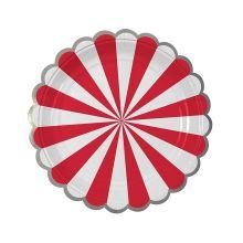 Pappteller Toot Sweet rot-weiß