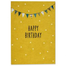 "Postkarte ""Happy Birthday"" Wimpel Ava und Yves"