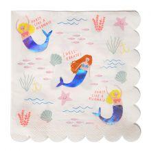 Meri Meri Serviette Meerjungfrau Let's be Mermaids