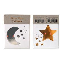 Tattoos Mond und Stern