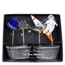 Meri Meri Cupcake-Set To The Moon
