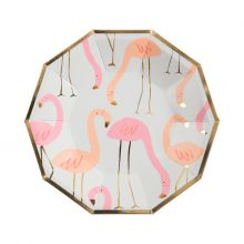 Flamingo Pappteller klein