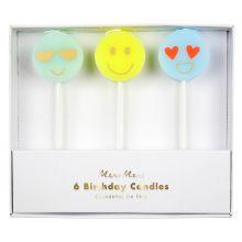 Caketopper Kerzen Emoji