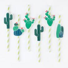 Papier-Strohhalme Kaktus