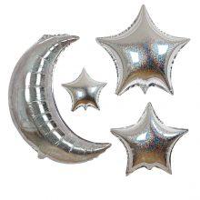 Folienballons Mond und Sterne