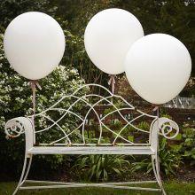 Riesenballon-Set weiß