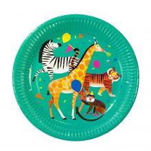 Pappteller Karneval der Tiere