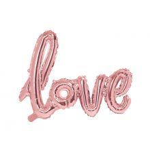 Schriftzug-Ballon Love rosè