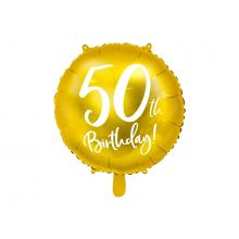 Folienballon 50th Birthday gold