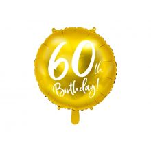 Folienballon 60th Birthday gold
