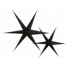 3-D Sterne schwarz freigestellt