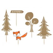 Caketopper Woodland Partydeco
