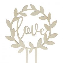 Caketopper Love Holz